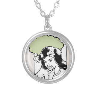 Think Green OTB Round Pendant Necklace
