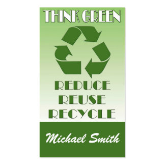 Think green pack of standard business cards