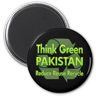Think Green Pakistan 6 Cm Round Magnet