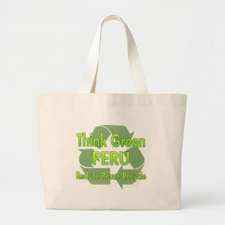 Think Green Peru Large Tote Bag