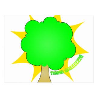 Think Green - postcard