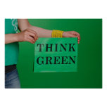 Think Green poster