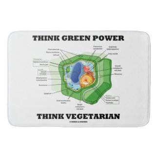 Think Green Power Think Vegetarian Plant Cell Bath Mats
