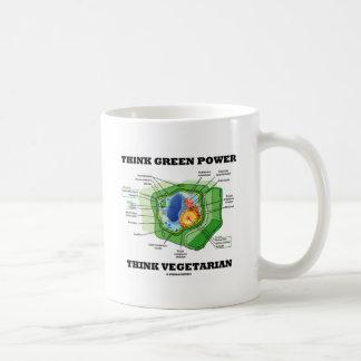 Think Green Power Think Vegetarian Plant Cell Mug