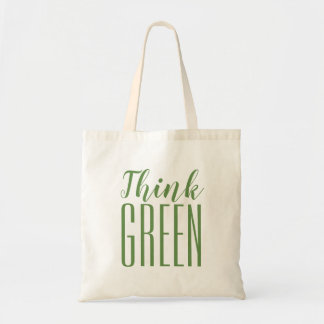 Think green pro environment quote tote bag