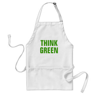 THINK GREEN Quotes Apron