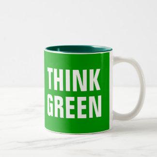 THINK GREEN Quotes Mug