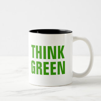 THINK GREEN Quotes Coffee Mug