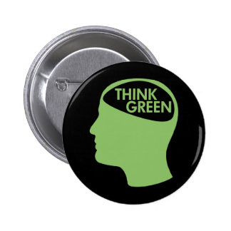 Think Green Recycle dark Pinback Button