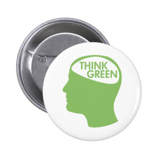 Think Green Recycle Pinback Button