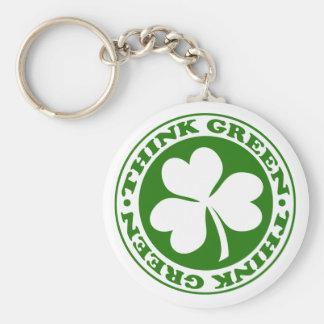 THINK GREEN SHAMROCK - keychain