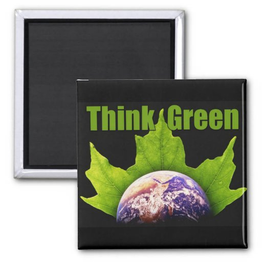 Think Green Square Magnet