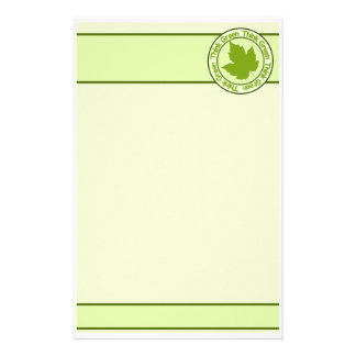 THINK GREEN stationary, customizable Customized Stationery