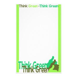 THINK GREEN stationary, customizable Personalized Stationery