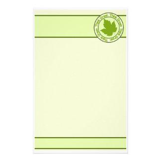 THINK GREEN stationary, customizable Customised Stationery
