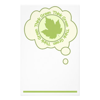 THINK GREEN stationary, customizable Personalised Stationery