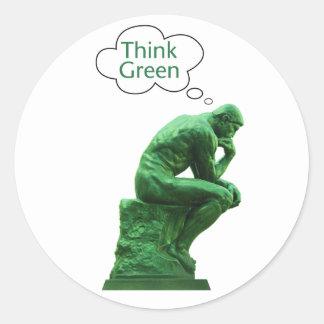 Think Green Thinker Sticker