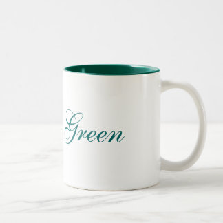 Think Green Two-Tone Mug