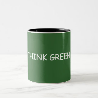 THINK GREEN! Two-Tone MUG