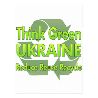Think Green Ukraine Postcard