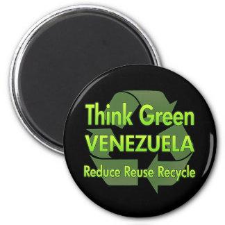 Think Green Venezuela 6 Cm Round Magnet