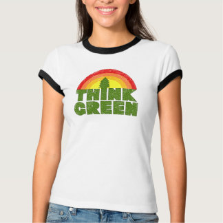 Think Green Vintage Style T-Shirt