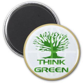 Think Green World Fridge Magnet