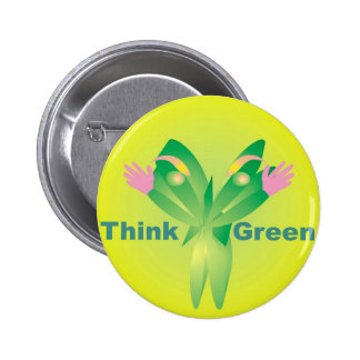 Think Green - Zen Recycle products 6 Cm Round Badge