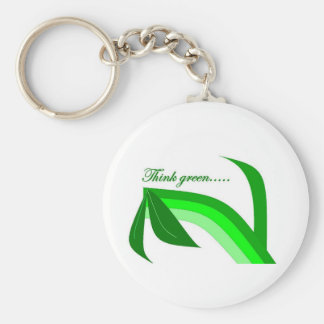 Think Green - Zen Recycle products Key Ring