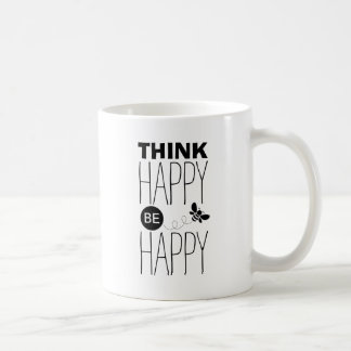 Think happy be happy | Inspirational quote design Coffee Mug