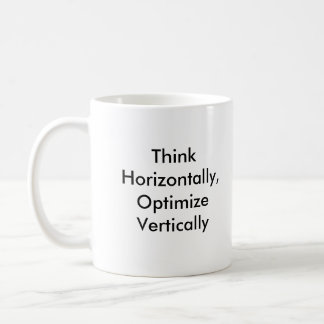 Think Horizontally, Optimize Vertically Classic White Coffee Mug