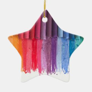 think in color ceramic ornament