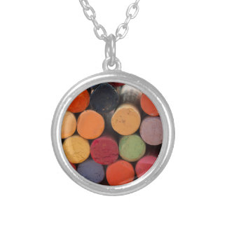 think in color silver plated necklace