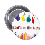 think in colour pinback button