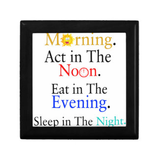 Think in The Morning. Act in The Noon. Eat in The Small Square Gift Box