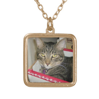 Think Inside the Box Square Pendant Necklace