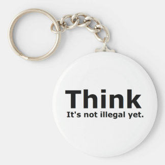 Think it's not illegal yet political gear keychains