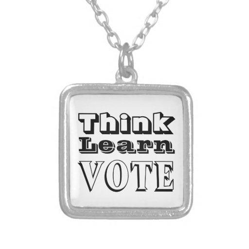 Think, Learn, Vote Pendants