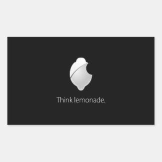 Think Lemonade! Rectangular Sticker