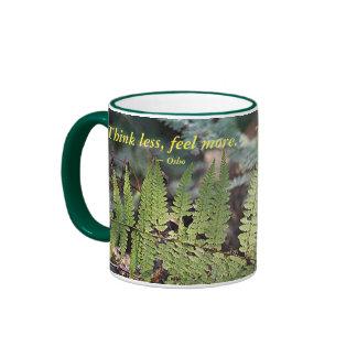 Think Less Feel More Ringer Mug