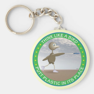 Think Like A Bird Key Ring