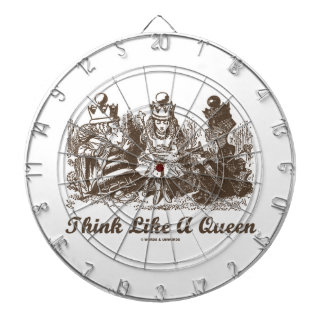 Think Like A Queen Alice White Queen Red Queen Dart Boards