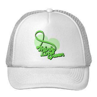 Think Lime Green Lymphoma Cap