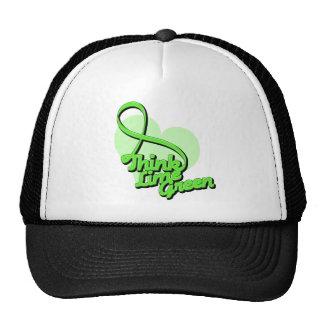Think Lime Green Lymphoma Mesh Hat