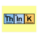 Think made of Elements Post Cards