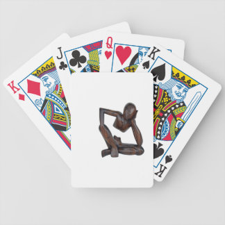 Think man bicycle playing cards