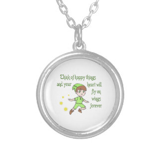 THINK OF HAPPY THINGS PERSONALIZED NECKLACE