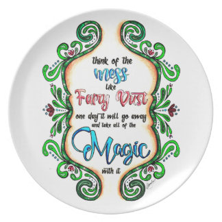 Think of the Mess - Inspiration for moms Plate