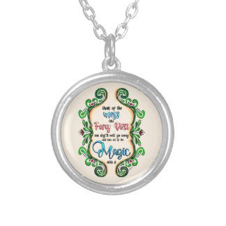 Think of the Mess - Inspiration for moms Silver Plated Necklace