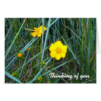 Think of You Yellow Flower Notecard